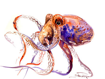 Bach Painting - Octopus by Suren Nersisyan