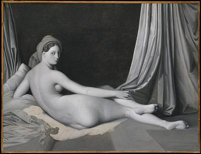 Odalisque In Grisaille Original by Jean Auguste Dominique Ingres