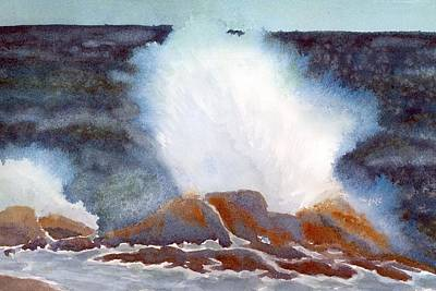 Painting - Odione Wave  by Roseann Meserve