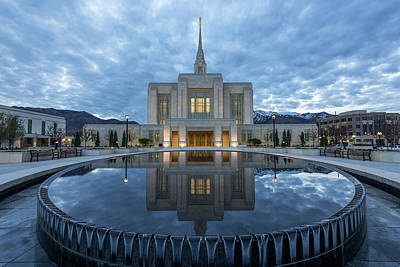 Photograph - Ogden Temple by Dustin LeFevre