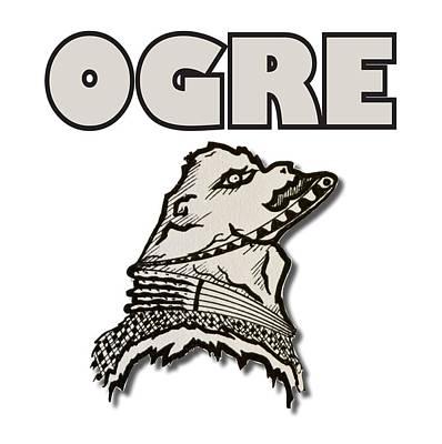 Mixed Media - Ogre by Jason Girard
