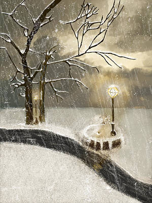 Oh Let It Snow Let It Snow Art Print by Angela A Stanton