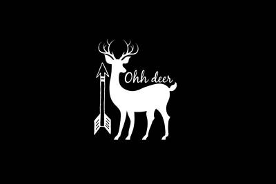 Deer Digital Art - Ohh Deer by Chastity Hoff