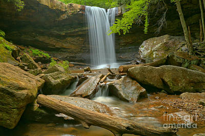 Photograph - Ohiopyle Cucumber Falls by Adam Jewell