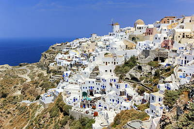 Photograph - Oia Village On Santorini Island, North, Greece by Elenarts - Elena Duvernay photo