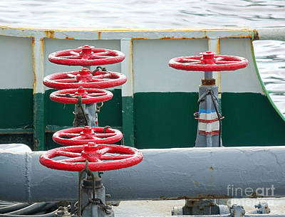 Photograph - Oil Pipeline Control Valves by Yali Shi