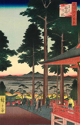 Oriental Painting - Oji Inari Shrine by Utagawa Hiroshige