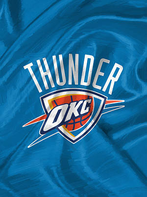 Oklahoma City Thunder Art Print by Afterdarkness