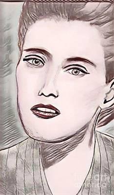 Drawing - Oksana by Manuel Matas