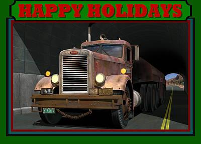 Art Print featuring the digital art Ol' Pete Happy Holidays by Stuart Swartz