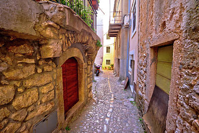 Photograph - Old Adriatic Town Vrbnik Stone Street by Brch Photography