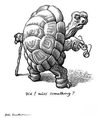 Old Age, Conceptual Artwork Art Print by Bill Sanderson