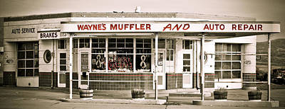 Photograph - Old Art Deco Filling Station by Marilyn Hunt