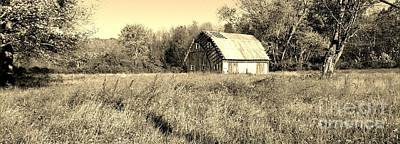Old Barn In The Meadow Art Print