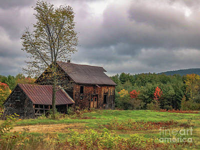 Photograph - Old Barn In The Mountains by Claudia M Photography