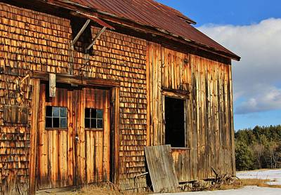 Unschooling Photograph - Old Barn With Cellar Hole by Joe  Martin