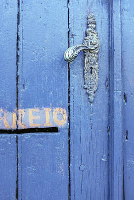 Photograph - Old Blue Door Detail by Carlos Caetano