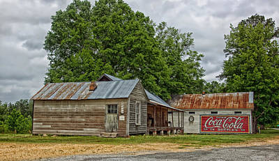 Coca-cola Signs Photograph - Old Buildings In Burnt Corn Alabama by Mountain Dreams