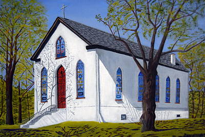 Old Bustleton Church Art Print by Michael Walsh
