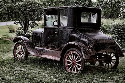 Digital Art - Old Car by Bonnie Willis