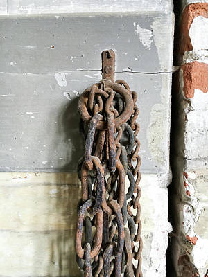 Old Chain Art Print by Tom Gowanlock