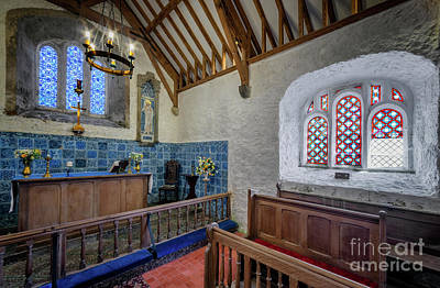 Ceiling Tiles Photograph - Old Chapel by Adrian Evans