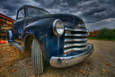 Shelburne Falls Photograph - Old Chevy by Mike Horvath
