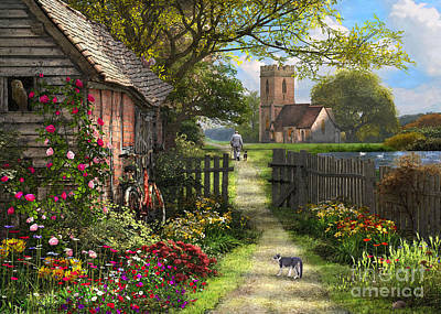 Digital Art - Old Church Path by Dominic Davison