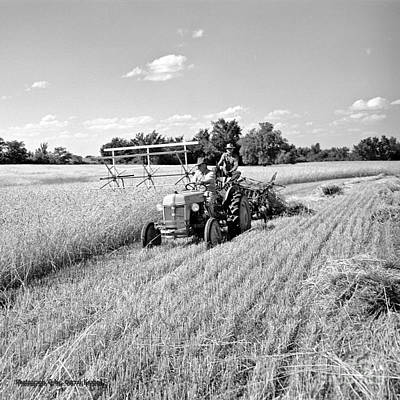 Old Combine Art Print by Larry Keahey