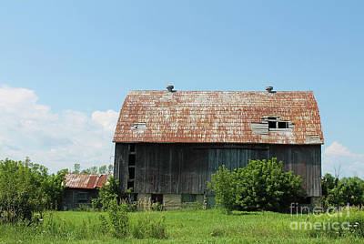 Photograph - Old Country Barn II by Nina Silver