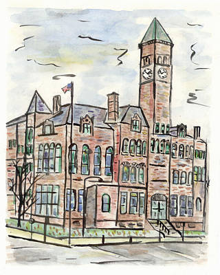 Painting - Old Courthouse Museum by Matt Gaudian