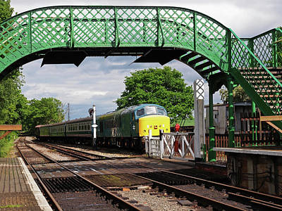 Railroad Station Photograph - Old Diesel Train In The Sidings by Gill Billington