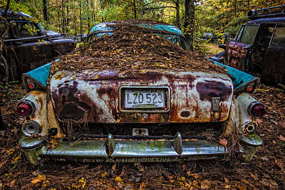 The 500 Photograph - Old Dodge by Debra and Dave Vanderlaan