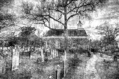 Photograph - Old Dutch Church Of Sleepy Hollow Vintage by David Pyatt