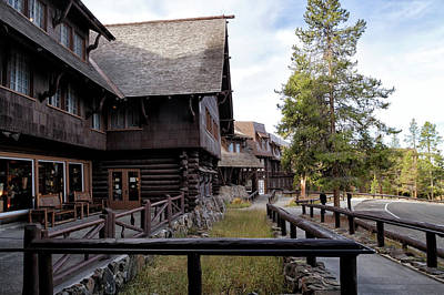 Photograph - Old Faithful Inn  by Shirley Mitchell