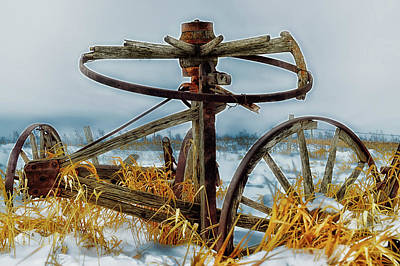 Photograph - Old Farm Equipment by Erik Wittlieb