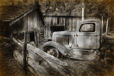 Photograph - Old Farm Pickup Truck by Randall Nyhof