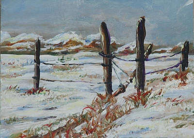 Painting - Old Fences by Gail Daley