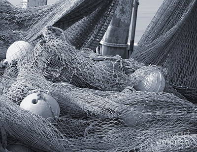 Photograph - Old Fishing Nets With Floats by Yali Shi