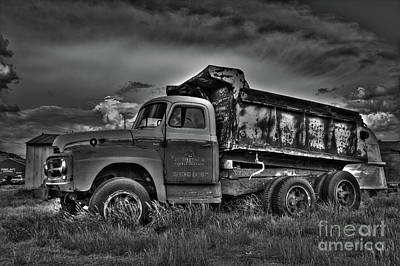 Photograph - Old International - Bw 2 by Tony Baca