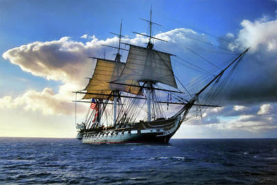 Warships Digital Art - Old Ironsides by Peter Chilelli