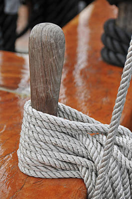 Photograph - Old Ironsides Rope by Mike Martin