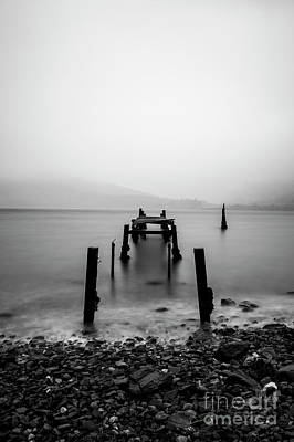 Caledonian Canal Photograph - Old Jetty Loch Linnhe.. by Sebastien Coell