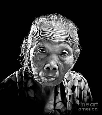 Photograph - Old Lady by Charuhas Images