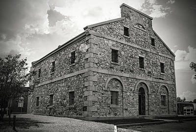 Photograph - Old Lancaster Jail 24 B W 1 by Joseph C Hinson Photography