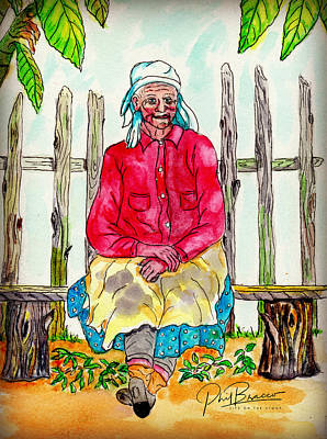 Old Migrant Worker, Resting, Arcadia, Florida 1975 Art Print