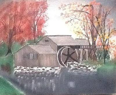 Feed Mill Painting - Old Mill Stream by Gary Carpenter