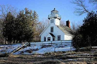 Photograph - Old Mission Lighthouse by Laura Kinker