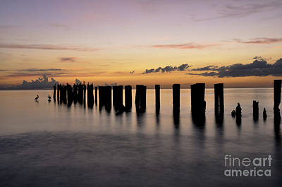 Art Print featuring the photograph Old Naples Pier by Kelly Wade