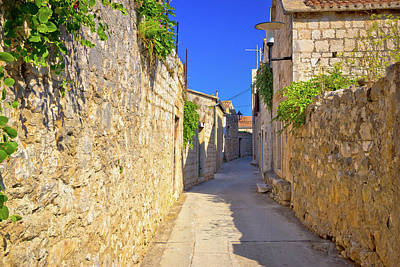 Photograph - Old Narrow Stone Street Of Vis View by Brch Photography